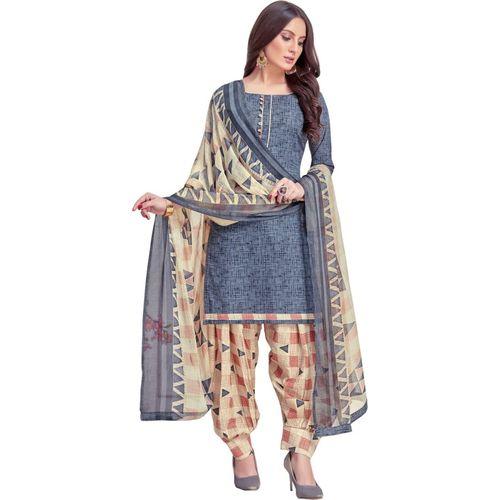 Saara Cotton Geometric Print, Graphic Print, Floral Print, Printed Salwar Suit Material(Unstitched)