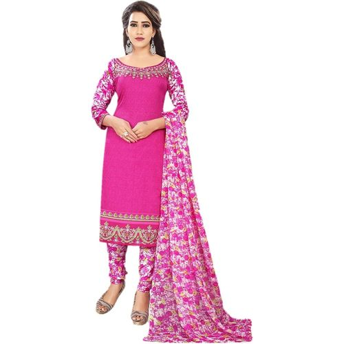 Design Willa Crepe Printed Salwar Suit Material(Unstitched)
