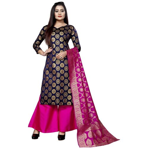 SATYAM WEAVES Brocade Self Design Salwar Suit