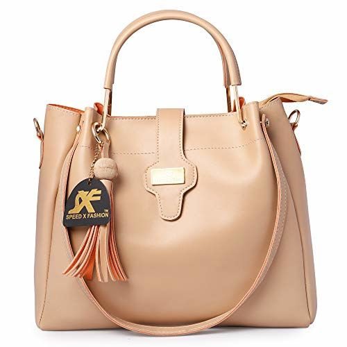 Speed X Fashion Cream Leather Handbag