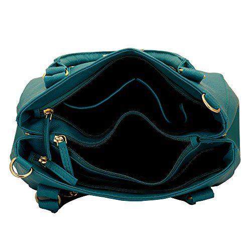 Lapis O Lupo Women's Dutch Handbag(Turquoise,LLHB0013TQ)
