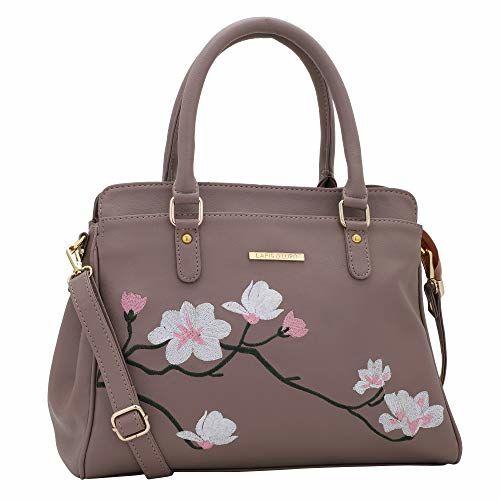 Lapis O Lupo Flower Embroidery Women Handbag (Peach)