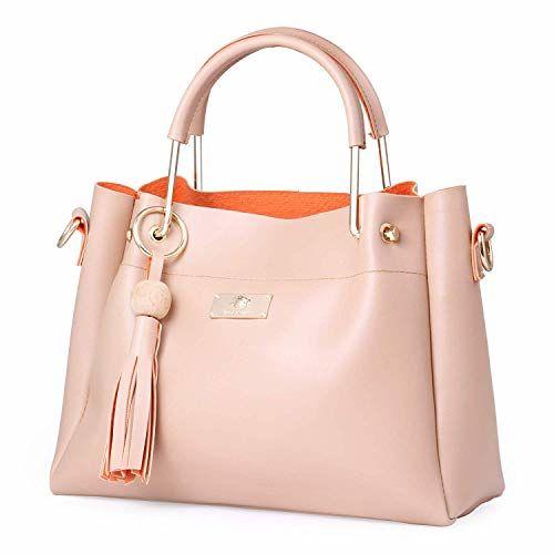 Shining Star Women's Handbag with Sling Bag Combo (Cream)ST-004CR