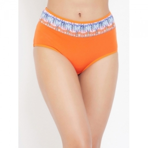 Clovia Women Orange Solid Hipster Briefs PN3354A163XL