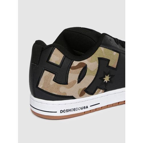 DC Men Black Printed CT GRAFFIK SE Leather Sneakers