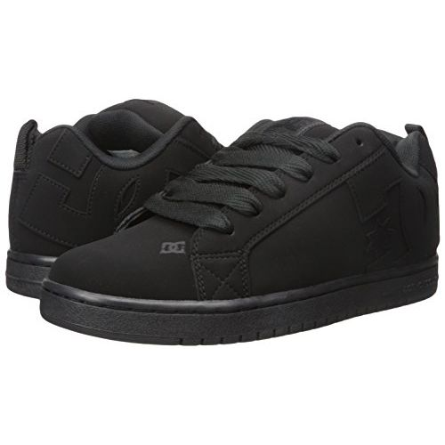 DC Men's Court Graffik M Black Leather Sneakers-5 UK/India (38 EU) (886434908835)