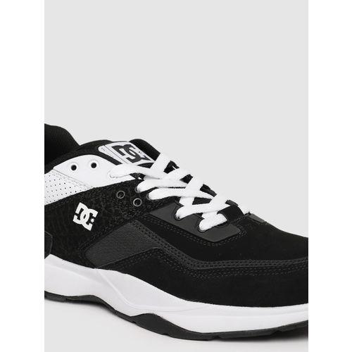 DC Men Black Leather Sneakers
