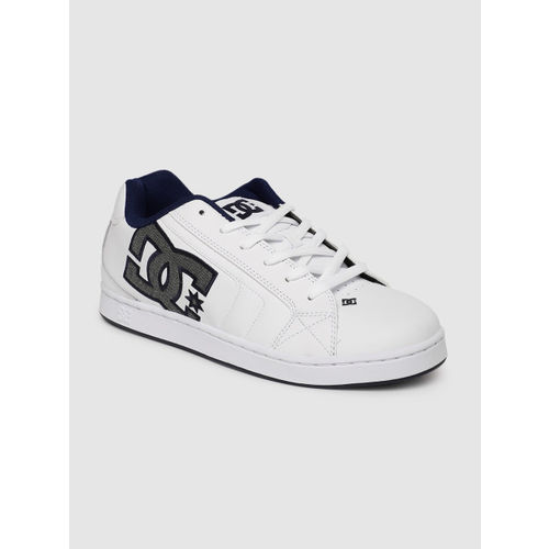 DC Men White Leather Sneakers