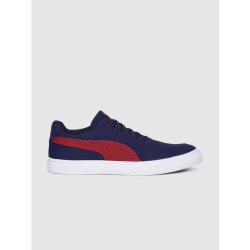 Puma Men Navy Blue & Red Acrux IDP Sneakers
