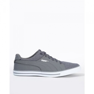 Puma Unisex's grey Canvas Deco Idp Sneakers