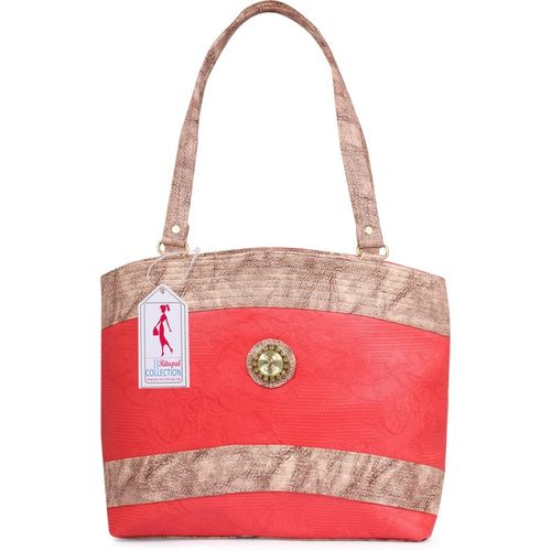 Ritupal Collection Women White, Pink Tote