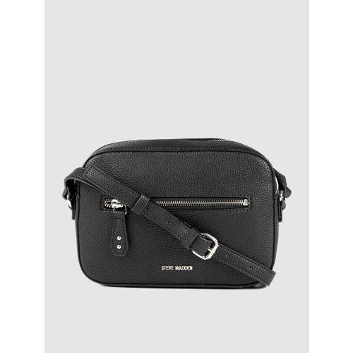 Steve Madden Black Solid Sling Bag