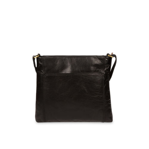 PURE LUXURIES LONDON Women Black Conkca Collection Genuine Leather Lina Sling Bag