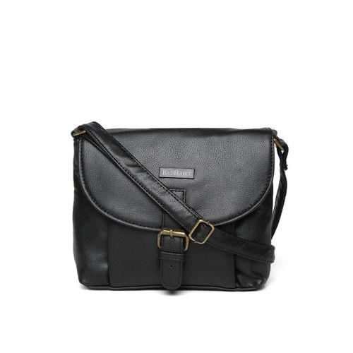 BAD HABIT Black Solid Sling Bag