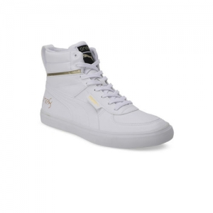 Puma Men White One8 Mid Sneakers