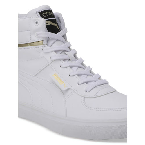 Buy Puma Men White One8 Mid Sneakers