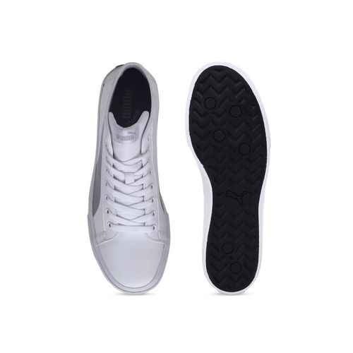 Puma Men White Solid Mid-Top Carve Mid SL IDP Sneakers
