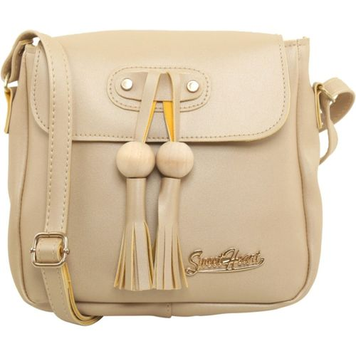 Sweet Heart Beige Sling Bag