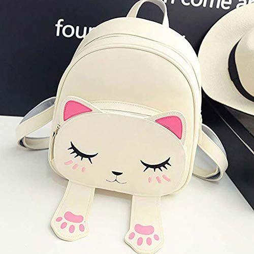 Bizarre Vogue Cream Cute Small Cat Style Backpack