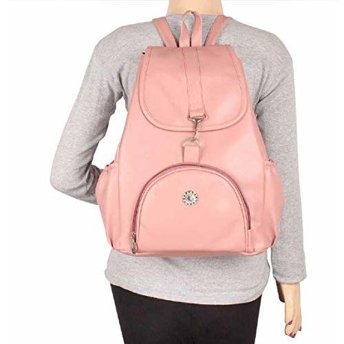 SAHAL GIRLS PU Leather Backpack School Bag Student Backpack Women Travel bag Artificial Leather Women's Backpack Black Unique Design College School Casual Bag