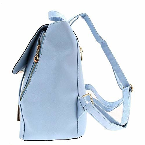 ShopyVid Fashion Blue Leather Attractive College Bag