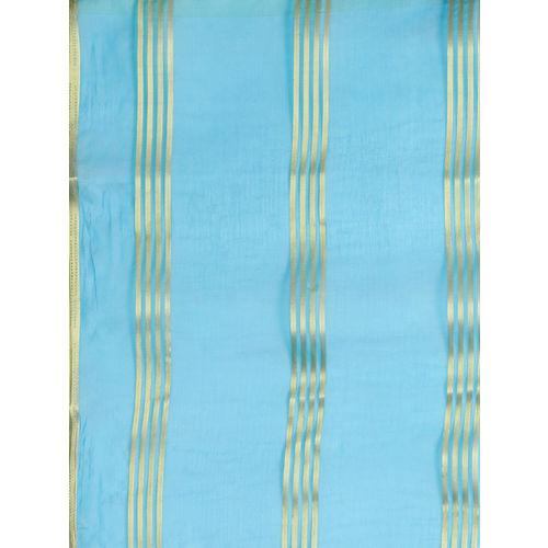 Ishin Blue & Golden Striped Saree