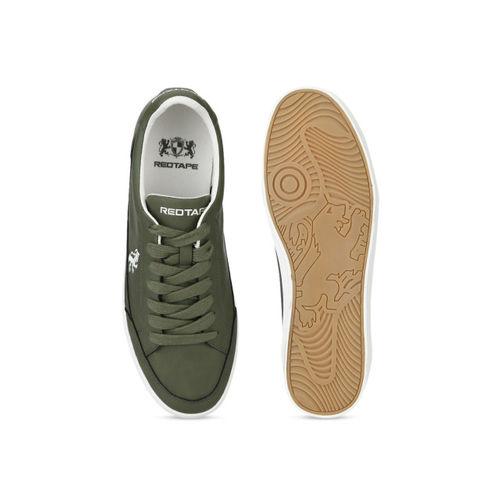 Buy Red Tape Men Olive Green Sneakers