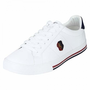 Red Tape Rte1755 White Synthetic Lace Up Sneakers