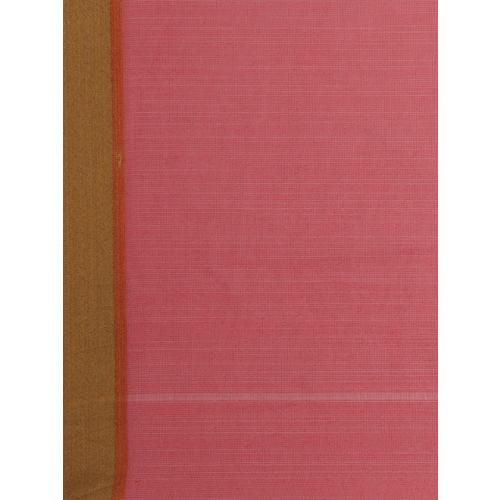 Shaily Pink & Grey Silk Cotton Colourblocked Saree