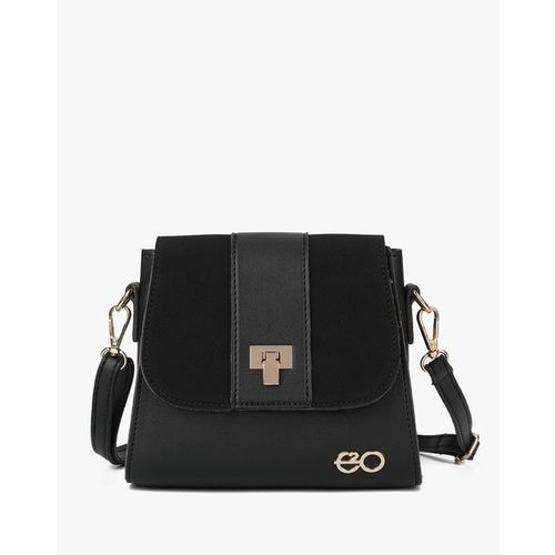 E2O Panelled Sling Bag with Detachable Strap