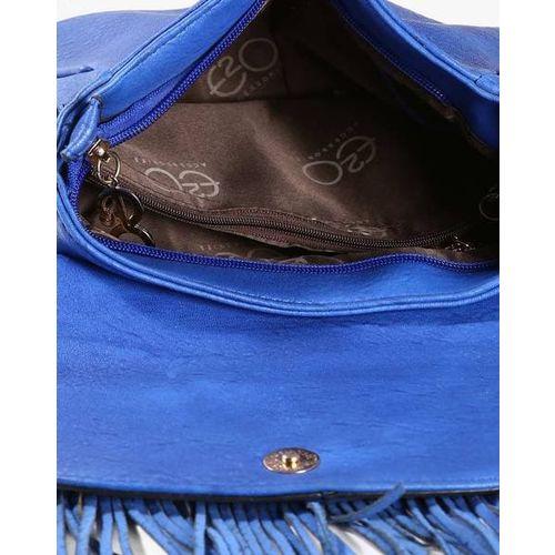 E2O Textured Slingbag with Fringes
