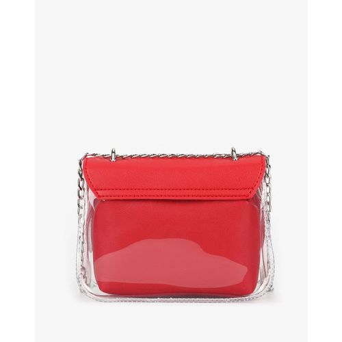 E2O Panelled Sling Bag with Flap Closure