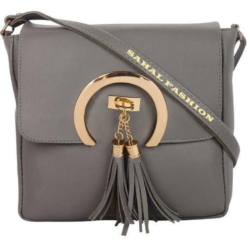 SAHAL FASHION Grey Sling Bag