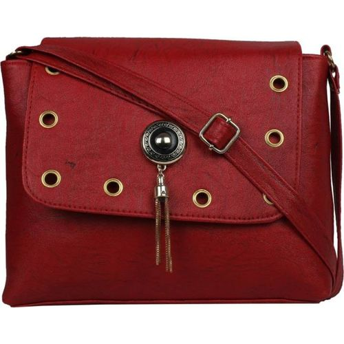 VISHESH COLLECTIONS Maroon Sling Bag