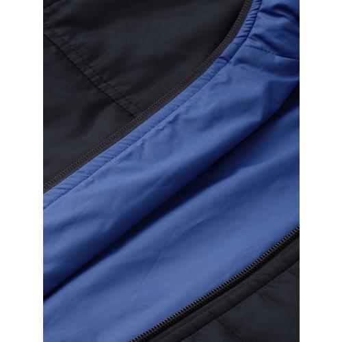 Parx Men Blue Solid Reversible Puffer Jacket