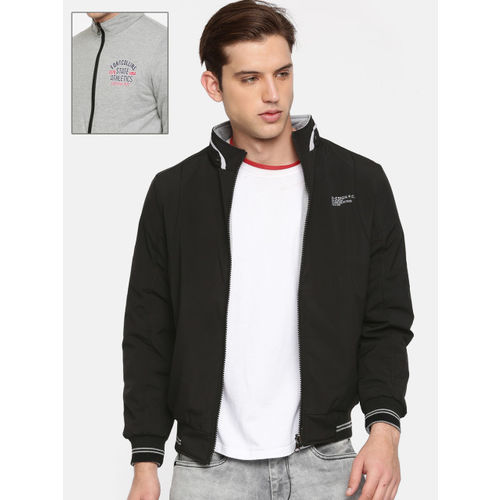 Fort Collins Men Black Solid Reversible Bomber
