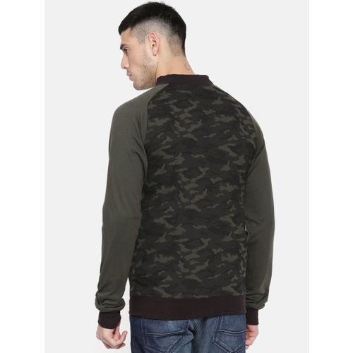 Puma Men Black Reversible Sweat Regular Fit Printed Bomber Jacket