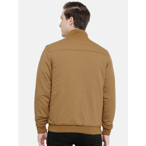 Wrangler Men Camel Brown Solid Reversible Bomber Jacket