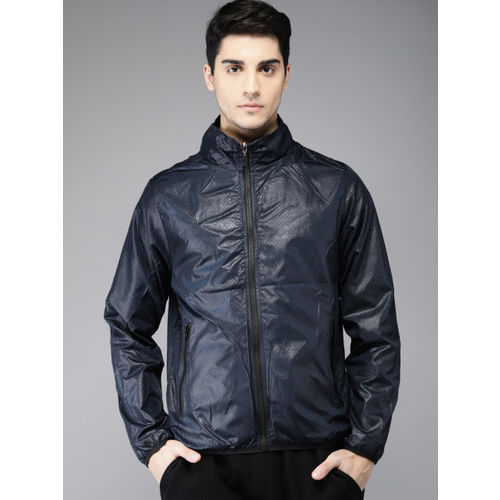 HERE&NOW Men Blue Solid Reversible Sporty Jacket