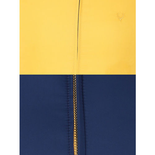 Allen Solly Men Mustard Yellow Solid Reversible Padded Jacket