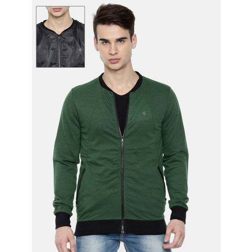 Killer Men Green & Black Reversible Solid Bomber