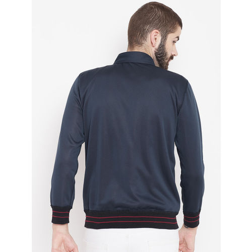 Duke Stardust Men Navy Blue & Maroon Reversible Bomber Jacket