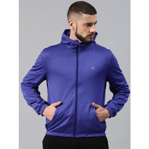 HRX by Hrithik Roshan Men Blue Solid Reversible Sporty Jacket