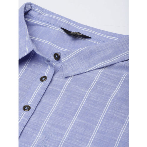 Roadster Women Blue & White Striped Shirt