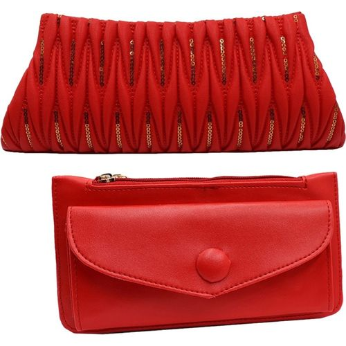 landloper Sports, Party, Formal, Casual Red Clutch