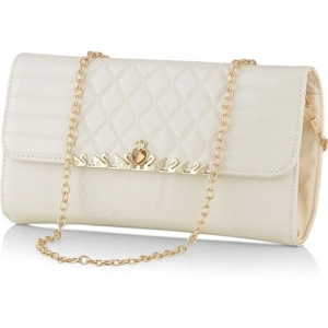 Eyeslanguage Casual White Clutch