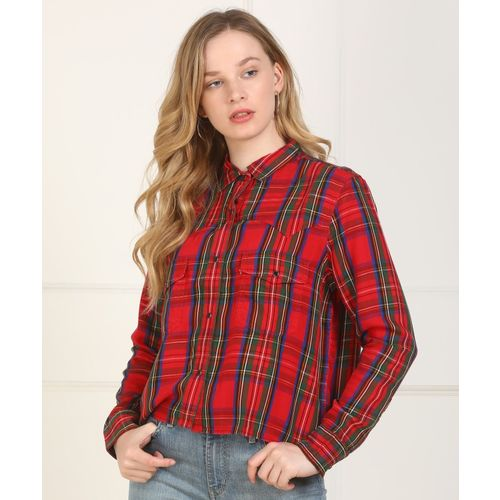 Levi's Women Checkered Casual Multicolor Shirt