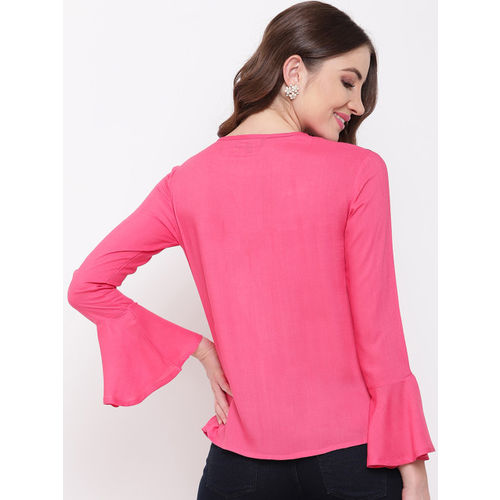 Mayra Women Pink Printed Top