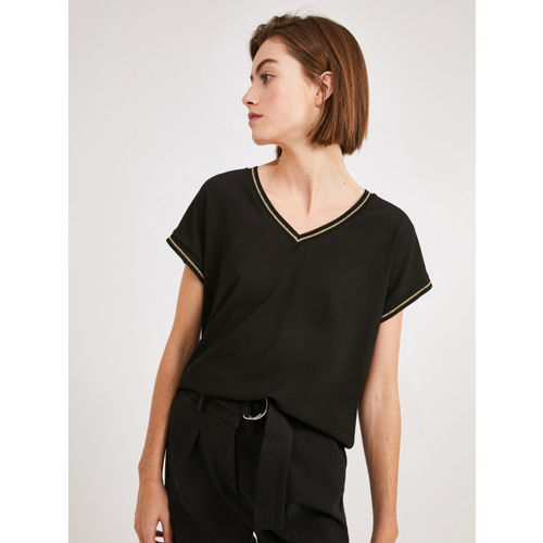 promod Women Black Solid Top