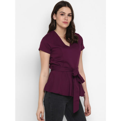 MIAMINX Women Purple Solid Top